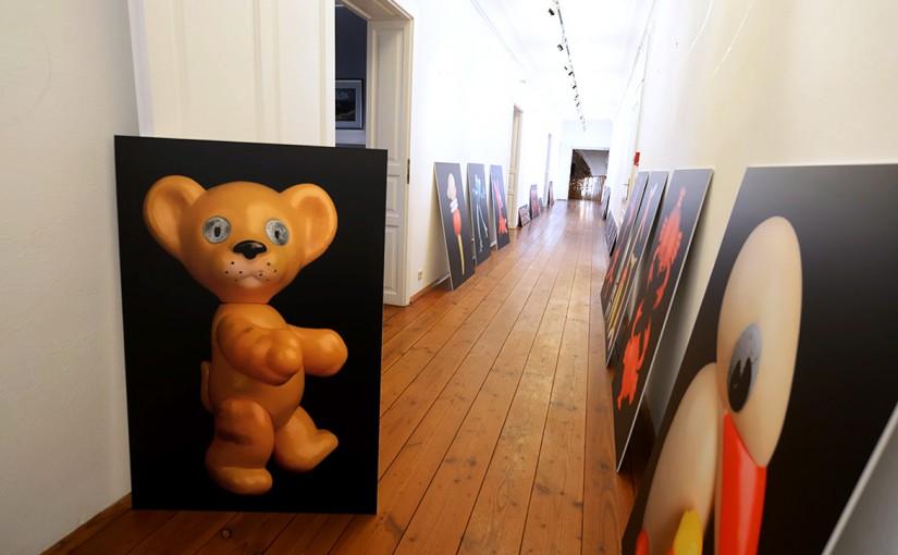 Ausstellungsaufbau im Burgenland
